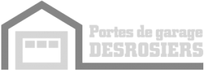 logo gris Porte de garage Desrosiers